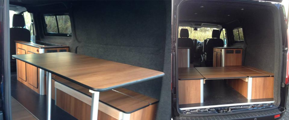 VW T5 campervan conversion for kite surfing, sking, snowboarding